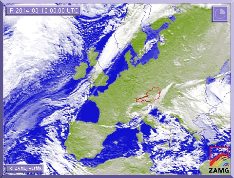 SAT Image of spring in Europe