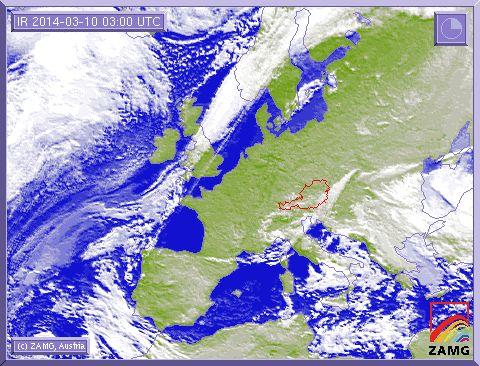 SAT Image of spring in Europe