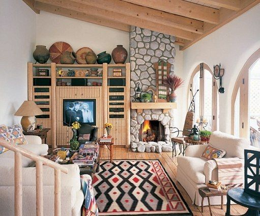 Tones Of The Desert Serve As Background In This Living Room. Bright Pops Of  Color Brought In Through Native American Indian Inspired Rug U0026 Accent  Pieces ... Part 89