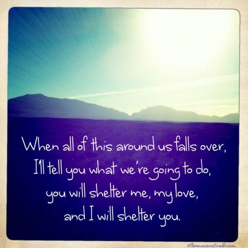 Beautiful lyrics.....<3 Ray Lamontagne