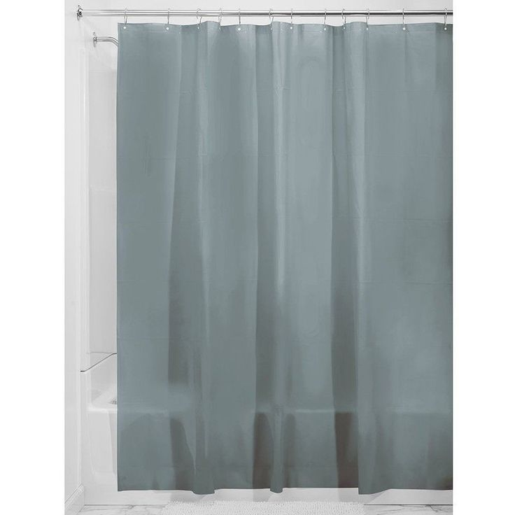 Shower Liner Curtain Smoke Grey Mould Free PEVA High Quality Quick Dry Odourless #InterDesign