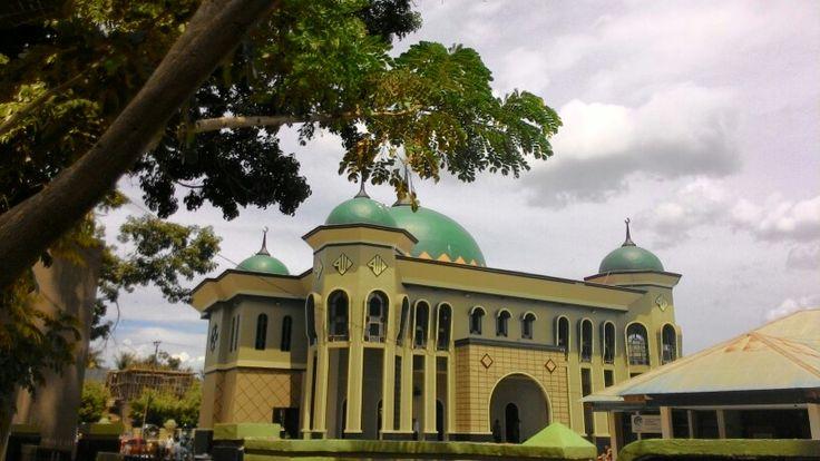 Al Muhajirin Mosque in Konawe Regency southeast sulawesi, very beautiful in center of konawe town