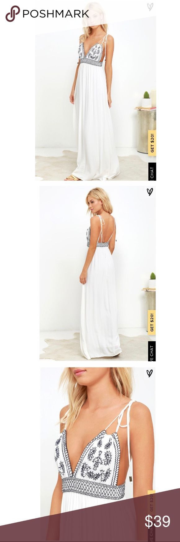 LULUS DAYS OF SUNLIGHT IVORY MAXI DRESS Beautiful off-white maxi from Lulus!  #f…