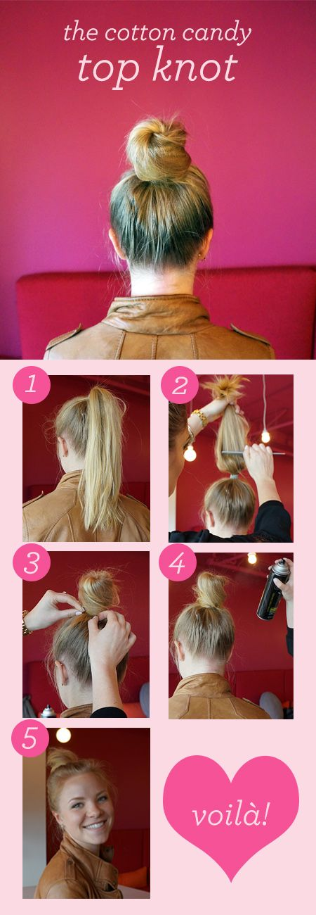 Love On Top (Knot): The Cotton Candy Bun Tutorial