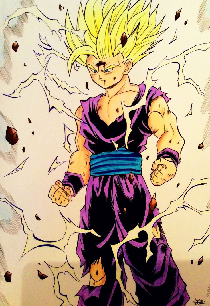 Gohan (Super Saiyan 2) from the fight with Cell