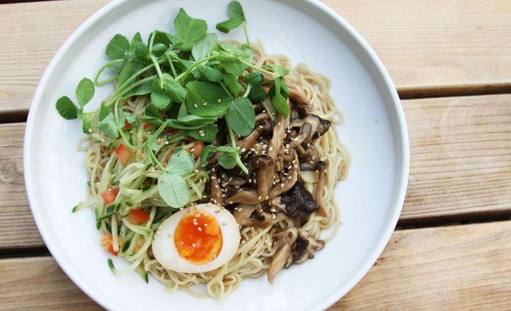 Miso and Mushroom Ramen Salad