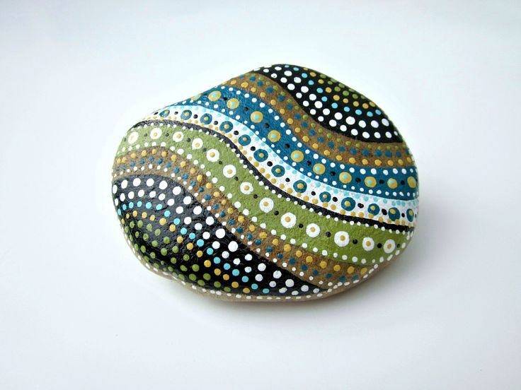 Painted Wyoming Stone // Hand-Painted Original NATURE Art // HOME - Office DECOR // Rock Art // Found Treasure. $33.00, via Etsy.