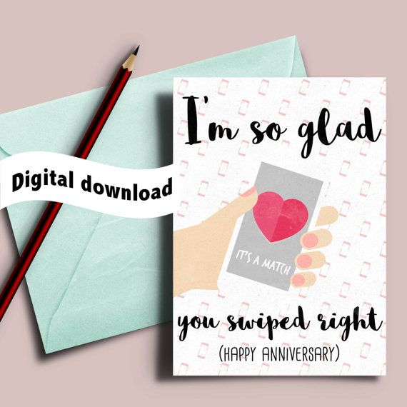 Printable Anniversary Card I Am So Glad You By DesignGenesStudio  Anniversary Cards Printable
