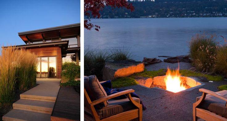 Дом у озера | allworth дизайн • ландшафтные архитекторы