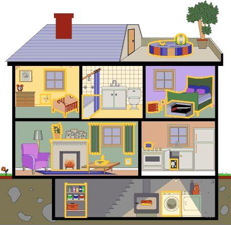 """TOUCH esta imagen: Remix of """"La maison : les différentes pièces et les meubles"""" by sarah"""