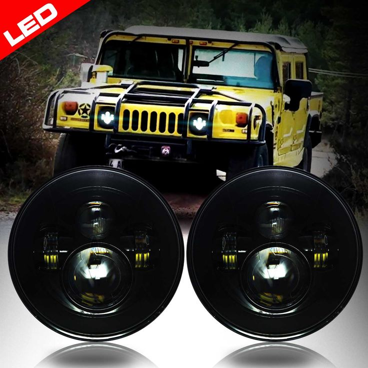Hummer H1 and H2 Headlights using sealed beam type. LED upgrade. Check and see what we have for your Hummer!
