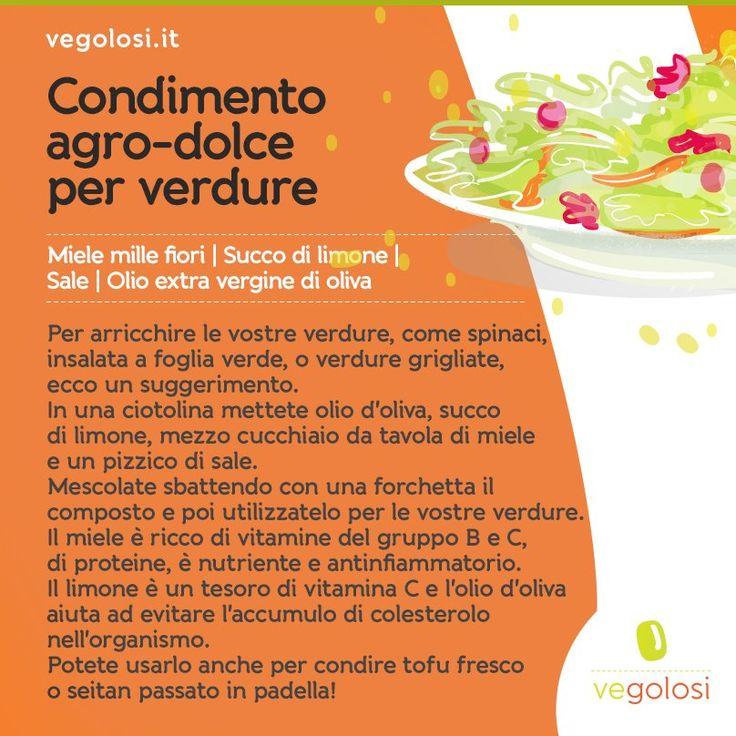 Un condimento #agrodolce per le vostre #verdure! (#spinaci, #insalate, verdure alla #griglia....:)