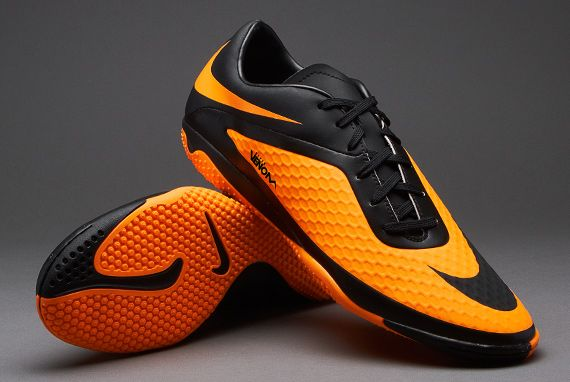 Nike Football Boots - Nike Hypervenom Phelon Indoor - Soccer Cleats - Black-Black-Bright Citrus