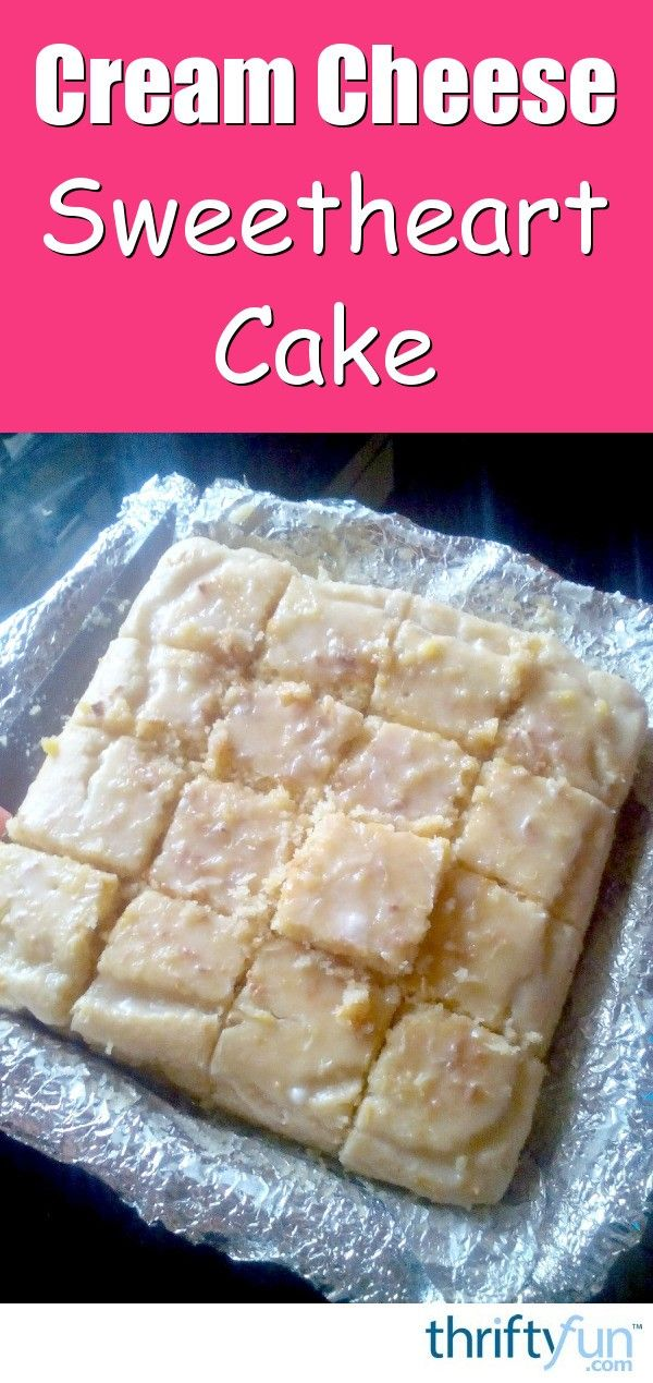 A sweetheart cake is more like a brownie or cookie in texture. This particular recipe includes the addition of a delicious cream cheese based glaze. This page contains a cream cheese sweetheart cake recipe.