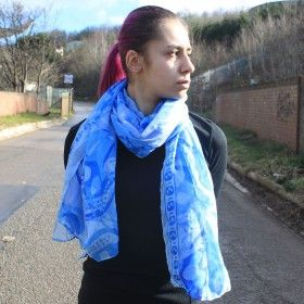 Splash Abstract Scarves | Hip Angels #Scarves_Wholesaler #Quality_Scarves_Wholesaler #Large_Scarves_Wholesaler #Stock_Scarves_Wholesaler #Summer_Scarves_Wholesaler #Hip_Angels_Scarves  The quality fashion scarf that can be sold for the magic 3 for £5. Usually this deal is for simple designs and small size (45x160cm) here we have mostly large sizes, typically 90x180cm in fresh designs with lots of details.