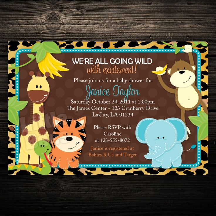 Baby Shower Invitations Zoo Animal Theme – diabetesmang.info