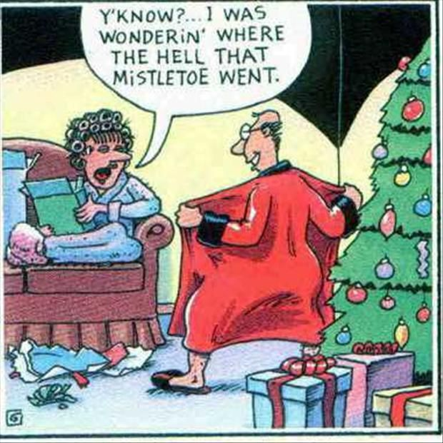 """""""You know i was wondering where that misletoe went"""" Funny Christmas Pictures - 30 Pics"""