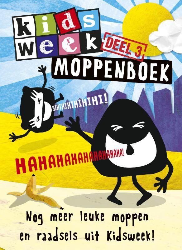 Deel drie in de populairste moppenboekenserie van het land! De moppenrubriek in Kidsweek is dan ook een van de meest gelezen onderdelen van deze populaire kinderkrant. € 5,-