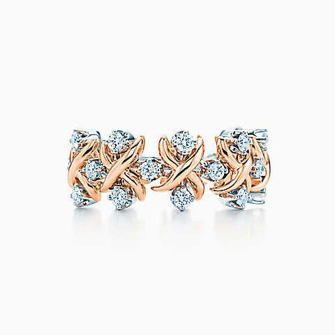Anel Lynn de Jean Schlumberger em ouro 18k com diamantes em platina.