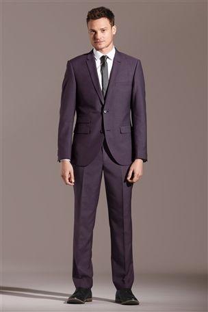 Buy Purple Slim Fit Suit: Jacket from the Next UK online shop