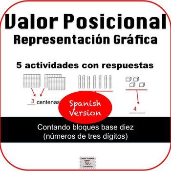 Spanish: 2nd Grade:Place Value Pictorial Representation-Math Centers