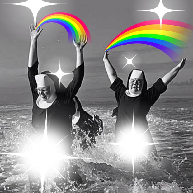 Nuns in the Sun. AKA what happens when I get bored and am left alone with the #Catwang app