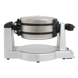 Double Waffle Maker from Waring Pro  Keep the batter from going bad through Waring's Pro Double Waffle Maker's separating grids. When one of them is done, turn the handle and flip the waffle-maker. Pour batter in the next one and you'll be all set.