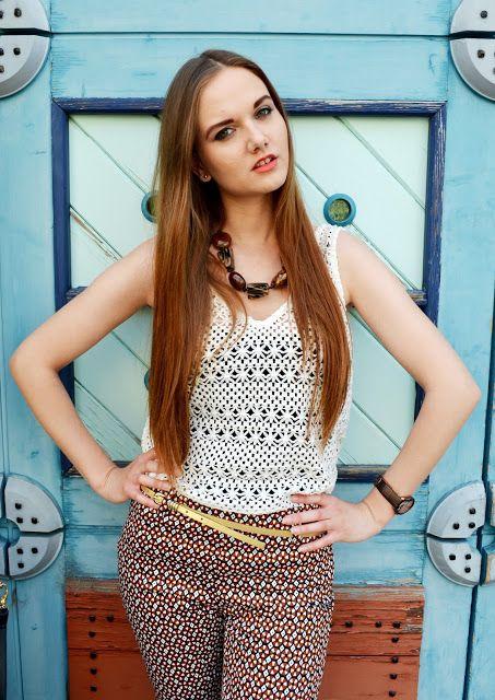bohemian, bohemian style, pants, white top, crochet top, outfit