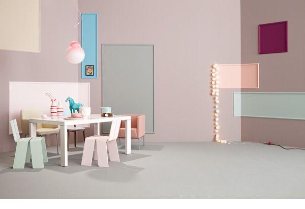 Pastel colors: haven't seen them used in a long time.    Farben, in Zusammenarbeit mit Bettina Eulenburg für Schöner Wohnen