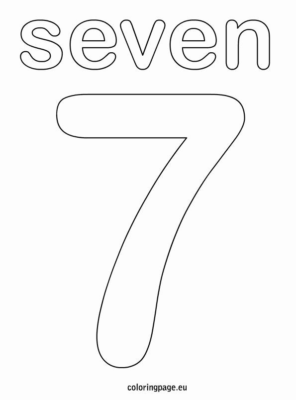 Number 7 Coloring Page Beautiful Numbers Coloring Page Coloring