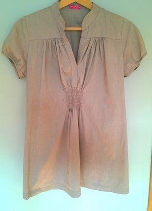 Kup mój przedmiot na #vintedpl http://www.vinted.pl/damska-odziez/bluzki-ciazowe/16888544-elegancka-bezowa-bluzeczka-ciazowa-happymum-36-38-40-idealna