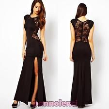 Vestito lungo elegante nero burning