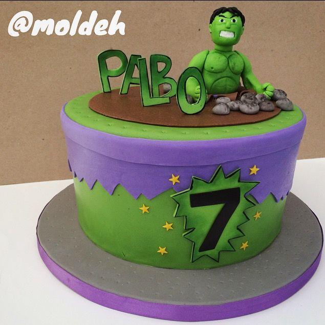 Pastel de Hulk para Cumple 7 // 7th Birthday Hulk cake