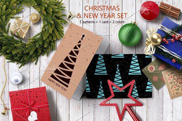 Happy New Year Set by Nadezda Gudeleva on @creativemarket