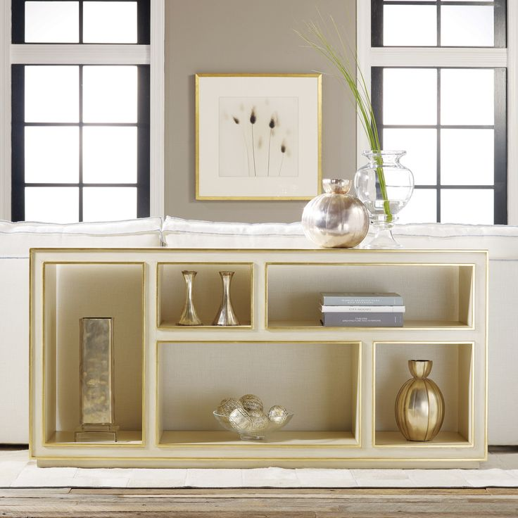 Abstract Horizontal Bookcase Cream Zinc Door Very Cool