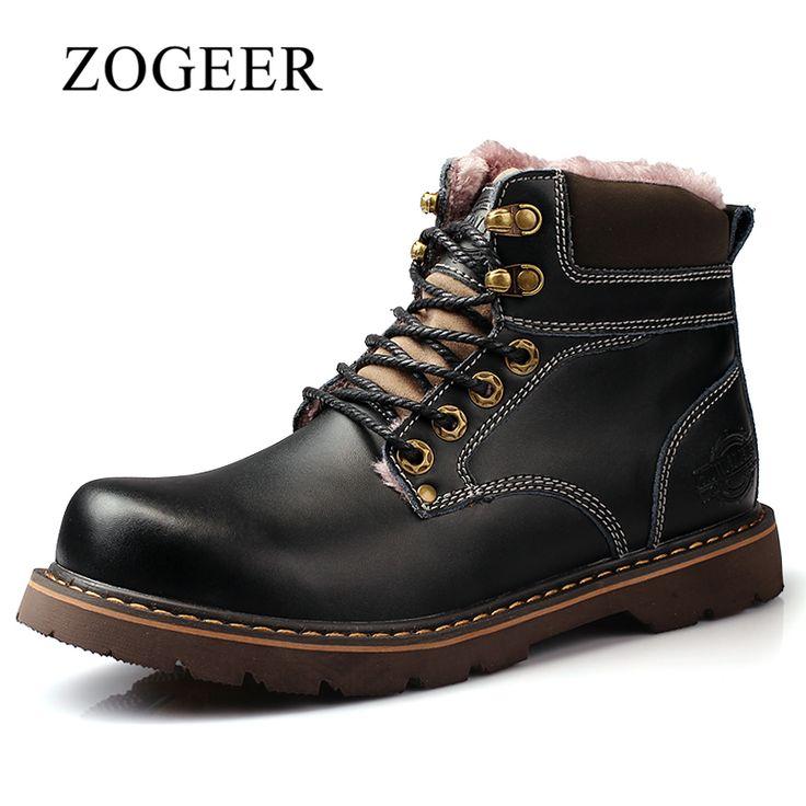 Marque Automne Hiver Hommes Chaussures Martin Bottes en daim Bottes chaudes de neige en cuir Bottes en plein air en bois Casu,noir,7