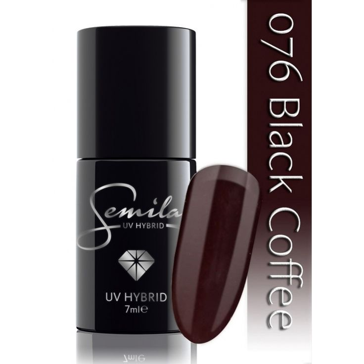 Ημιμόνιμο μανό Semilac - 076 Black Coffee 7ml - Semilac | Προϊόντα Μανικιούρ - Πεντικιούρ Semilac & Ημιμόνιμα.