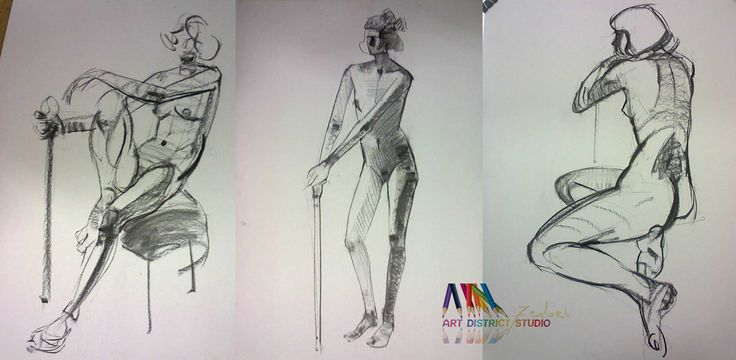 atelier de crochiuri - desen dupa corpul uman