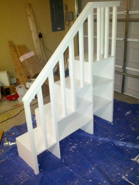 Http Www Ana White Com   Plans Camp Loft Bed Stair Junior Height C
