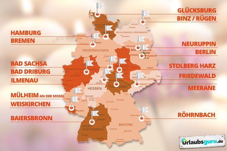 Mein ultimativer Geheimtipp gegen den Herbstblues: Wellnesshotels. Welches die schönsten in eurem Bundesland sind, erfahrt ihr hier. Von Baden-Württemberg, Bayern, Berlin, Brandenburg, Bremen, Hamburg, Hessen, Mecklenburg-Vorpommern, Niedersachsen, NRW, Rheinland-Pfalz, das Saarland, Sachsen, Sachsen-Anhalt, Schleswig-Holstein und Thüringen sind alle mit dabei.