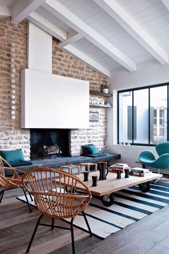 Deco De Salon Plus De 50 Photos Pour Mettre L Ambiance Renovation Vieille Maison Idees De Design D Interieur Maison En Pierre