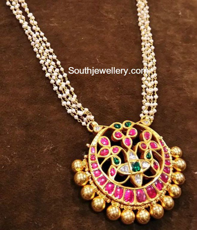 Pearls Chain with Kundan Pendant photo