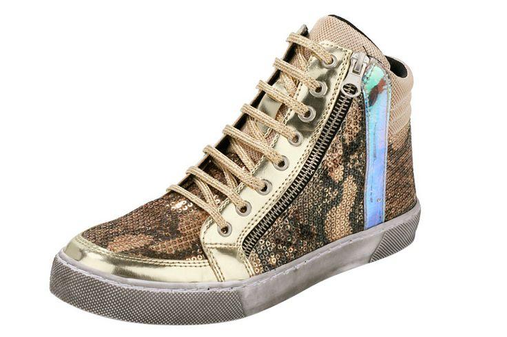 #Heine #Sneaker #Schnürboots,   #35, #36, #37, #38, #39, #40, #41, #42, #43, #goldfarben, #05607405606926