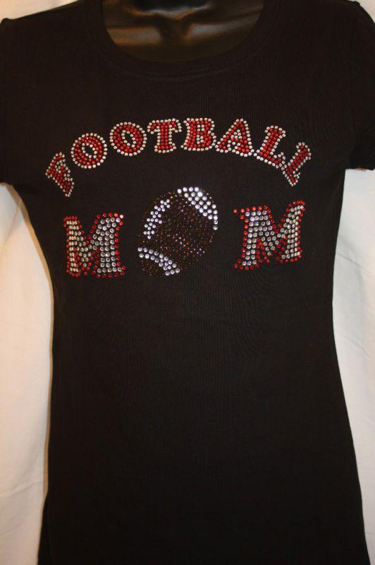 Football Mom Rhinestone BLING
