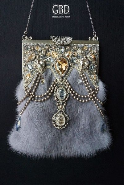 Wonderful Purse--Soft With Beautiful Beading Accent-Lovely Clasp Closure--                                                                                                                                                                                 More