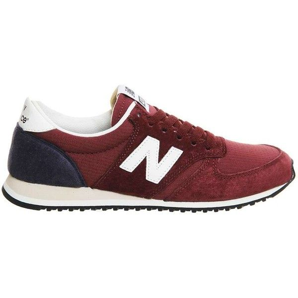 New Balance supplied by Office New Balance u420 Trainers (2.415 UYU) ❤ liked on Polyvore featuring shoes, sneakers, red, real leather shoes, new balance trainers, leather sneakers, new balance footwear and red shoes