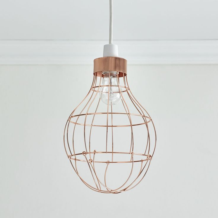Bulb cage pendant copper effect bulb lightslight bulbbulbslight shadeslamp