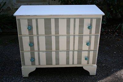 striped dresser, from primitiveandproper.blogspot.com