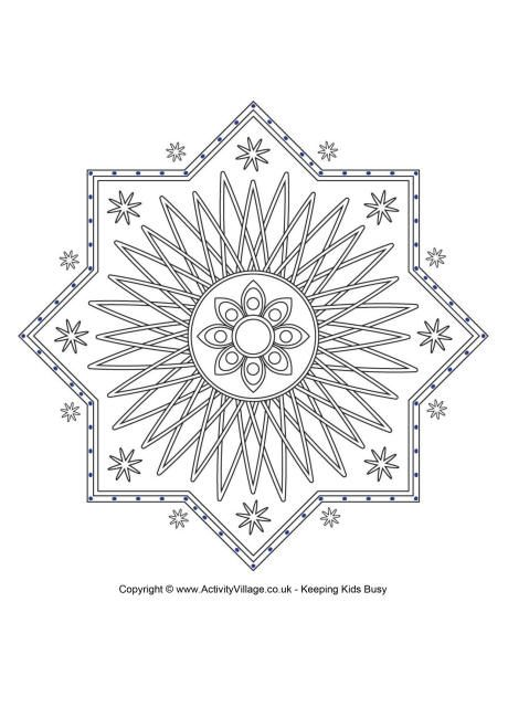 muslim holidays coloring pages - photo#29