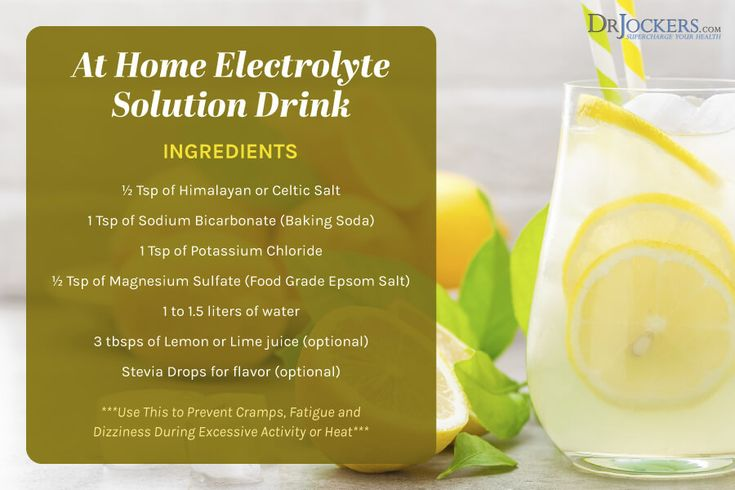 Electrolyte imbalance symptoms and how to correct